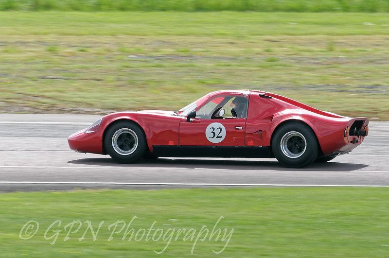 Charles Allison driving a class SRD Chevron B8 taken at Thruxton 50th Anniversary Celebration race meeting.
