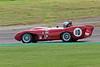 Malcolm Paul/Rick Bourne driving a Class WT3a Lotus Mk X taken at Thruxton 50th Anniversary Celebration race meeting.