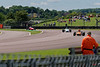 Callum Grant driving a Merlyn Mk20a leads Ben Mitchell driving a Merlyn Mk20 Historic Formula Ford 1600 taken at Thruxton 50th Anniversary Celebration race meeting.
