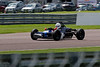 Louis Hanjoul driving a Elden Mk8/10 with a patched up nose in Historic Formula Ford 1600 taken at Thruxton 50th Anniversary Celebration race meeting.