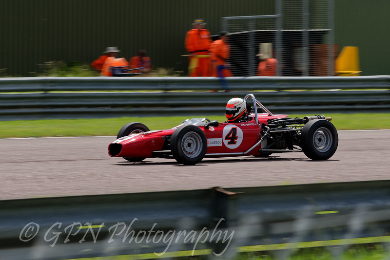 Max Bartell driving a Merlyn Mk20A Historic Formula Ford 1600 taken at Thruxton 50th Anniversary Celebration race meeting.