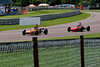Callum Grant (Merlyn Mk20A) leads Cameron Jackson (Lola T200) in the Historic Formula Ford 1600 series taken at Thruxton 50th Anniversary Celebration race meeting.