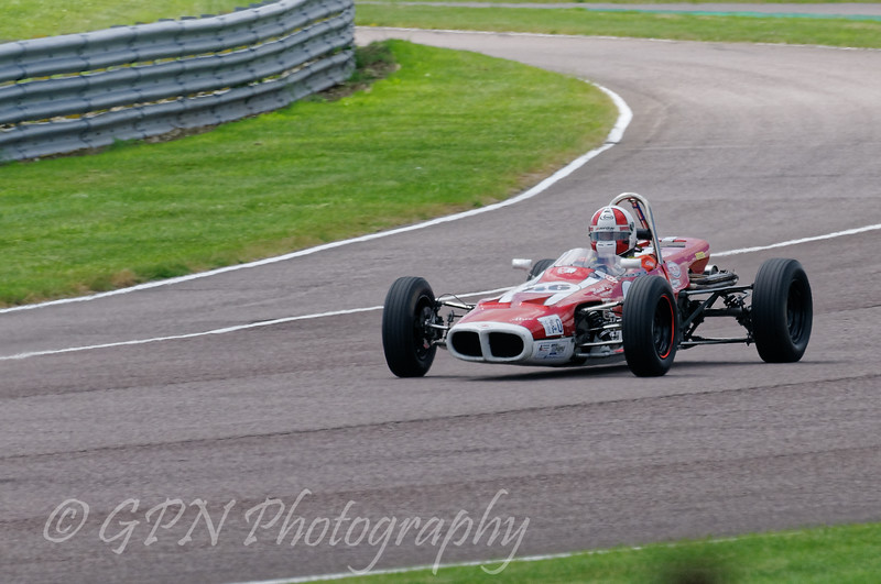 Stuart Dix driving a Class OF FF1600 Cooper Chinook taken at Thruxton 50th Anniversary Celebration race meeting.