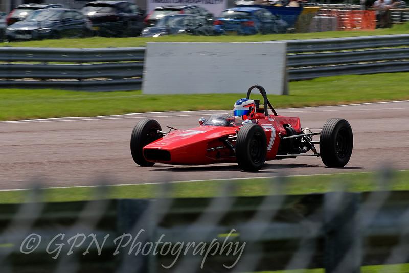 Cameron Jackson driving a Lola T200 Historic Formula Ford 1600 taken at Thruxton 50th Anniversary Celebration race meeting.
