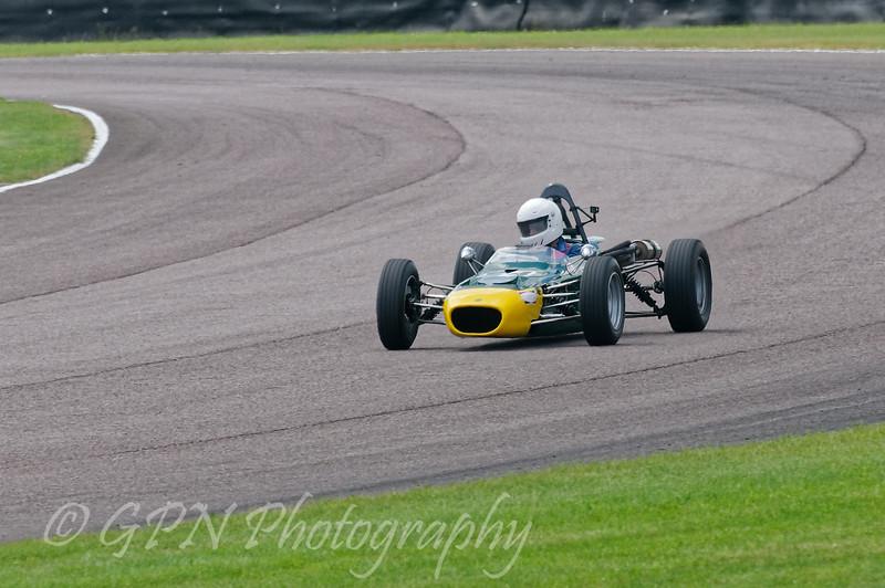Alex Meeke driving a Class OF FF1600 Merlyn Mk20A taken at Thruxton 50th Anniversary Celebration race meeting.