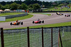 Callum Grant (Merlyn Mk20A) leads Cameron Jackson (Lola T200), Kevin Williams (Merlyn Mk20A) and others in the Historic Formula Ford 1600 series taken at Thruxton 50th Anniversary Celebration race meeting.