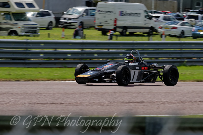 Richard Tarling driving a Jamun T2 Historic Formula Ford 1600 taken at Thruxton 50th Anniversary Celebration race meeting.