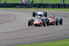 Cormac Fianagan driving a FF1600 Alexis Mk14 leads Sam Mitchell driving a FF1600 Merlyn Mk20 and Tim Brise driving a Class OF FF1600 Merlyn Mk20 taken at Thruxton 50th Anniversary Celebration race meeting.
