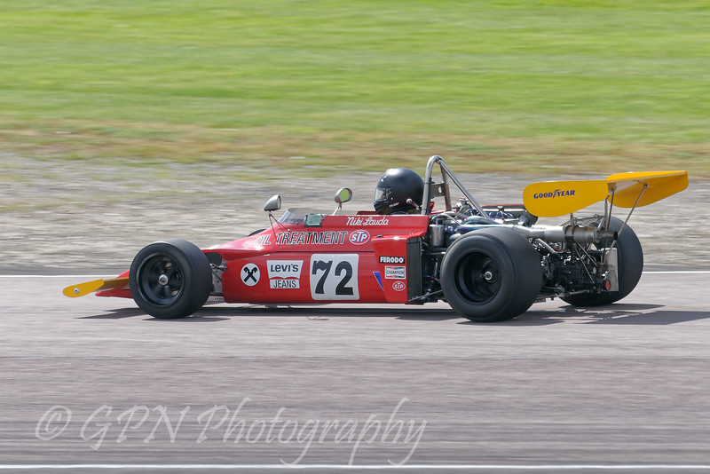 Stephen Weller driving a Historic F2 March 722 taken at Thruxton 50th Anniversary Celebration race meeting.