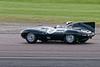 Ben Eastick/Karl Jones driving a Class WT4a Jaguar D-Type taken at Thruxton 50th Anniversary Celebration race meeting.