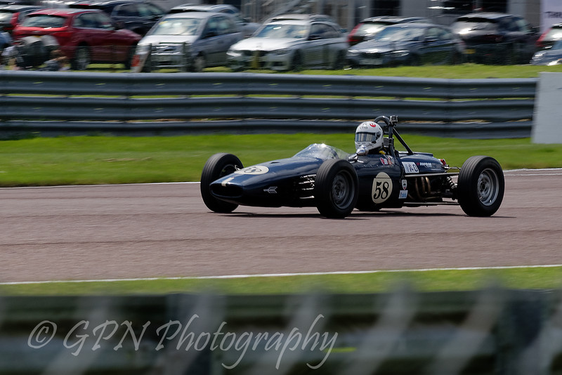 Michael Grant Peterkin driving a Brabham BT21 Historic Formula Ford 1600 taken at Thruxton 50th Anniversary Celebration race meeting.