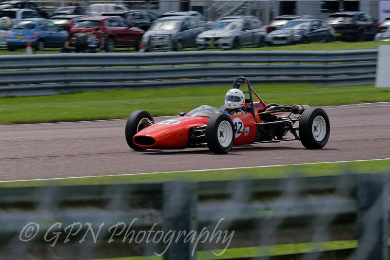 Carmac Flanagan driving a Alexis Mk14 Historic Formula Ford 1600 taken at Thruxton 50th Anniversary Celebration race meeting.