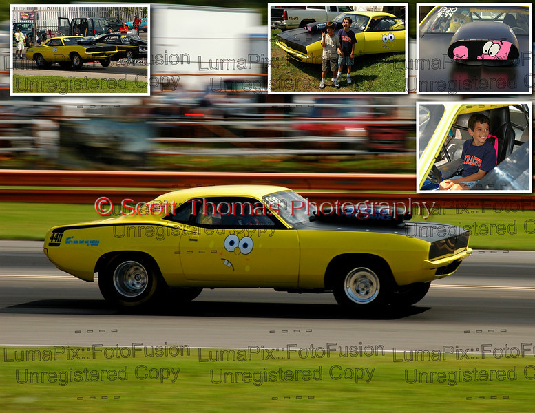 Test using trial version of LumaPix FotoFusion software. ESTA Safety Park Dragstrip racing action from July 29, 2007 near Cicero, New York.