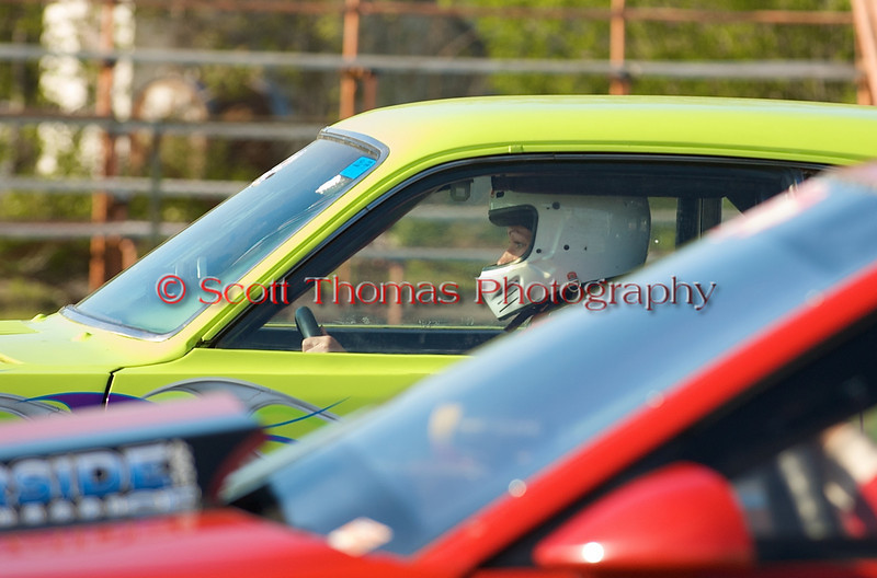 Waiting at the line for the green light, a driver concentrates while racing at the ESTA Safety Park Dragstrip in Ciciero, New York on Sunday, May 16, 2010.