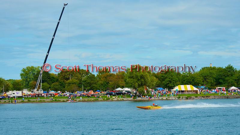 Pro Stocks racing at the  HydroBowl on Seneca Lake in Geneva, New York.