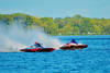 5.0 Liter Inboard Hydroplanes racing at the HydroBowl on Seneca in Geneva, New York.