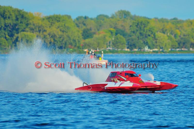 5.0 Liter Stock hydroplanes at the HydroBowl on Seneca Lake Inboard Hydroplane Racing in Geneva, New York.