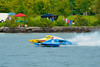 2.5 Liter Modified hydroplanes racing at the  HydroBowl on Seneca Lake in Geneva, New York.
