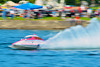 1.0 Liter Modifed hydorplanes racing at the HydroBowl on Seneca Lake in Geneva, New York.