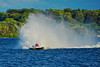 Inboard Hydroplane racing at HydroBowl on Seneca Lake in Geneva, New York.