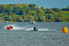 Vintage Jersey Speed Skiffs doing flybys at HydroBowl on Seneca Lake in Geneva, New York.