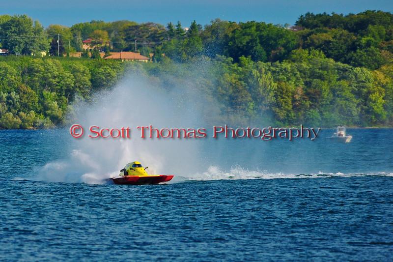 National Modified Inboard Hydroplane racing at HydroBowl on Seneca Lake in Geneva, New York.
