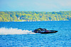 Grand National Hydro (GNH) Inboard Hydroplanes racing at HydroBowl on Seneca Lake in Geneva, New York.