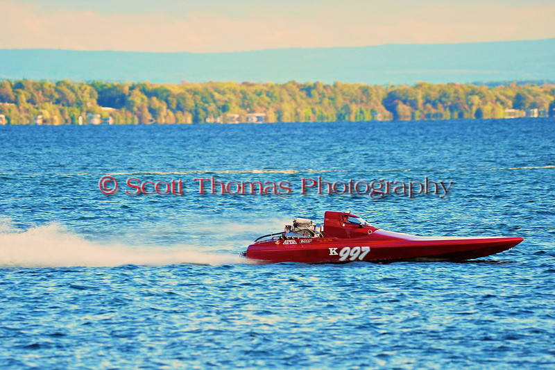 K Racing Runabouts (K-Boats) racing at HydroBowl on Seneca Lake in Geneva, New York.