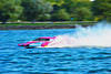 CS-9/H-9 The Dog 2.5 Liter Stock Inboard Hydroplane racing at HydroBowl on Seneca Lake in Geneva, New York.