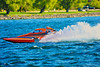 2.5 Liter Stock Inboard Hydroplanes racing at HydroBowl on Seneca Lake in Geneva, New York.