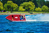 Inboard Hydroplane racing at HydroBowl on Seneca Lake in Geneva, New York.