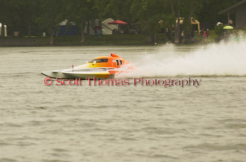 Hydroplane CT11 Armstrong Honey Chile Racing being driven by Stephen R. Armstsrong racing on Onondaga Lake during Syracuse Hyrdofest on Saturday, June 20, 2009.