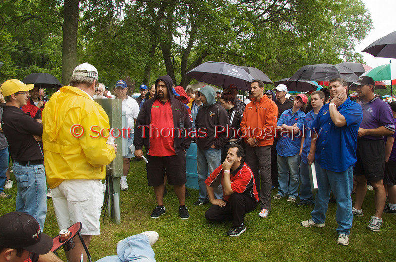 Syracuse Hyrdrofest drivers meeting on Saturday, June 20, 2009.
