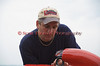 Tom Vielhauer of Liverpool, New York, working on his 2.5 liter hydroplane boat, Unfinished Business, at the Syracuse Hyrdrofest on Saturday, June 20, 2009.