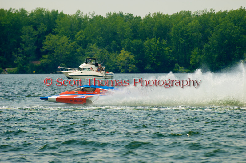 5.0 Liter Stock hydroplane CE-2 on the course at the 2010 Syracuse Hydrofest  held at Onondaga Lake Park near Liverpool, New York on Saturday, June 19.