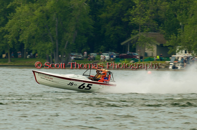 Jersey Skiff JS-65 on the course at the 2010 Syracuse Hydrofest  held at Onondaga Lake Park near Liverpool, New York on Saturday, June 19.