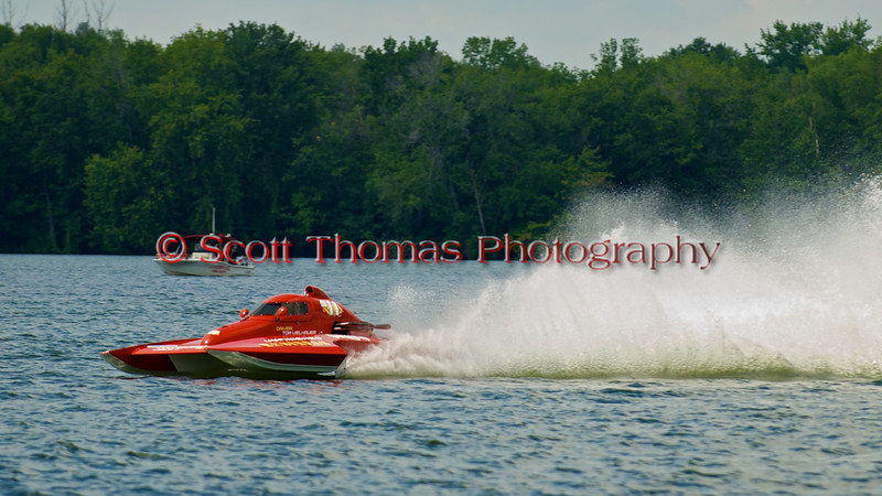 Tom Vielhauer in his 2.5 LIter Stock Hydroplane, Unfinished Business (S11), on Onondaga Lake during the 2010 Syracuse Hydrofest held at Onondaga Lake Park near Liverpool, New York on Sunday, June 20.