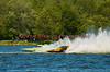 Hydroplanes Adrenaline Rush (CE-13) and Canadian Tire Valleyfield (CE-5) racing during the 5.0 Liter Stock finals at the 2010 Syracuse Hydrofest held at Onondaga Lake Park near Liverpool, New York on Sunday, June 20.