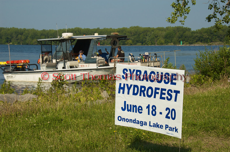 Local volunter fire departmetn rescue crews wait for the start of racing at the Syracuse Hydrofest 2010 held at Onondaga Lake Park near Liverpool, New York on Saturday, June 19.