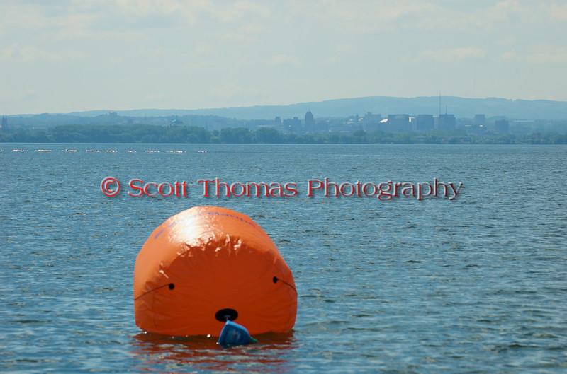 Turn Three buoy on the course of the Syracuse Hydrofest 2010 held at Onondaga Lake Park near Liverpool, New York on Sunday, June 20.