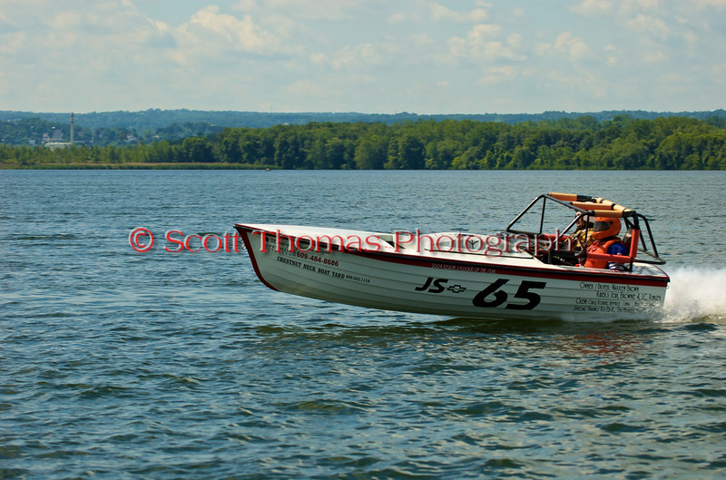 Jersey Skiff JS-65 on the course at the 2010 Syracuse Hydrofest held at Onondaga Lake Park near Liverpool, New York on Sunday, June 20.