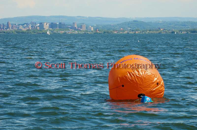 West Marine turn buoy on the course at the Syracuse Hydrofest 2010 held at Onondaga Lake Park near Liverpool, New York on Sunday, June 20.