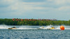 2.5 Liter hydroplanes AMA Demolition (S-33), Second Choice (S-41) and Sonic Wave (CS-20) jocking for postion before the start of their heat race at the 2010 Syracuse Hydrofest held at Onondaga Lake Park near Liverpool, New York on Sunday, June 20.