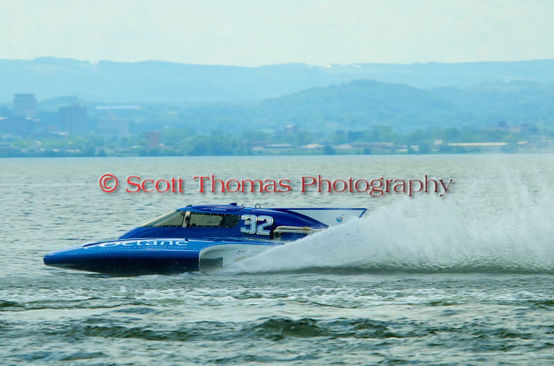 2.5 Liter hydroplane Octane (CS-32) driven by Sylvain Dorais racing at the 2010 Syracuse Hydrofest held at Onondaga Lake Park near Liverpool, New York on Sunday, June 20.