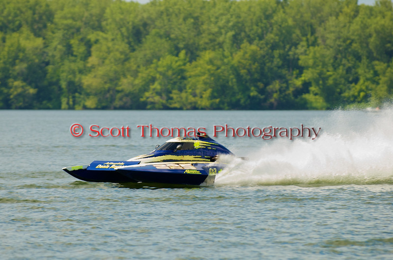 2.5 Liter hydroplane CS-225 driven by Nicolas Rousse racing at the 2010  Syracuse Hydrofest held at Onondaga Lake Park near Liverpool, New York on Sunday, June 20.