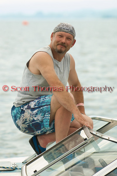 Tow boat operator before racing at the Syracuse Hydrofest 2010 held at Onondaga Lake Park near Liverpool, New York on Saturday, June 19.