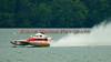 2.5 Liter Stock hydroplane Wet Spot (CS-10) driven by Rob Stevenson racing at the 2010 Syracuse Hydrofest held at Onondaga Lake Park near Liverpool, New York on Sunday, June 20.