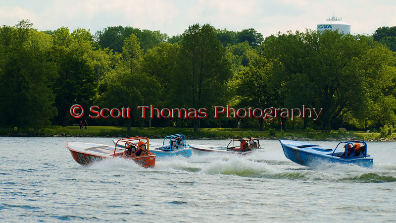 Jersey Skiffs before the start of their heat race at the 2010 Syracuse Hydrofest held at Onondaga Lake Park near Liverpool, New York on Sunday, June 20.