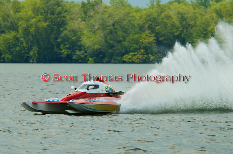 2.5 Liter hydroplane Wet Spot (CS-10) driven by Rob Stevenson racing at the 2010 Syracuse Hydrofest held at Onondaga Lake Park near Liverpool, New York on Sunday, June 20.