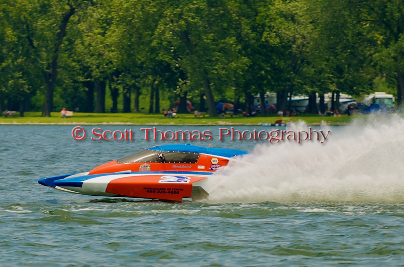 5.0 Liter Stock hydroplane CE-2 owned and driven by Richard Haineault at the 2010 <br /> Syracuse Hydrofest held at Onondaga Lake Park near Liverpool, New York on Saturday, June 19.